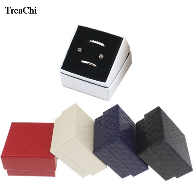 5Colors Paper Jewelry Organizer Box Ring Earrings Storage Case Ring Earring Christmas Wedding Gift Bague Bijoux Box 5*5*3.5cm