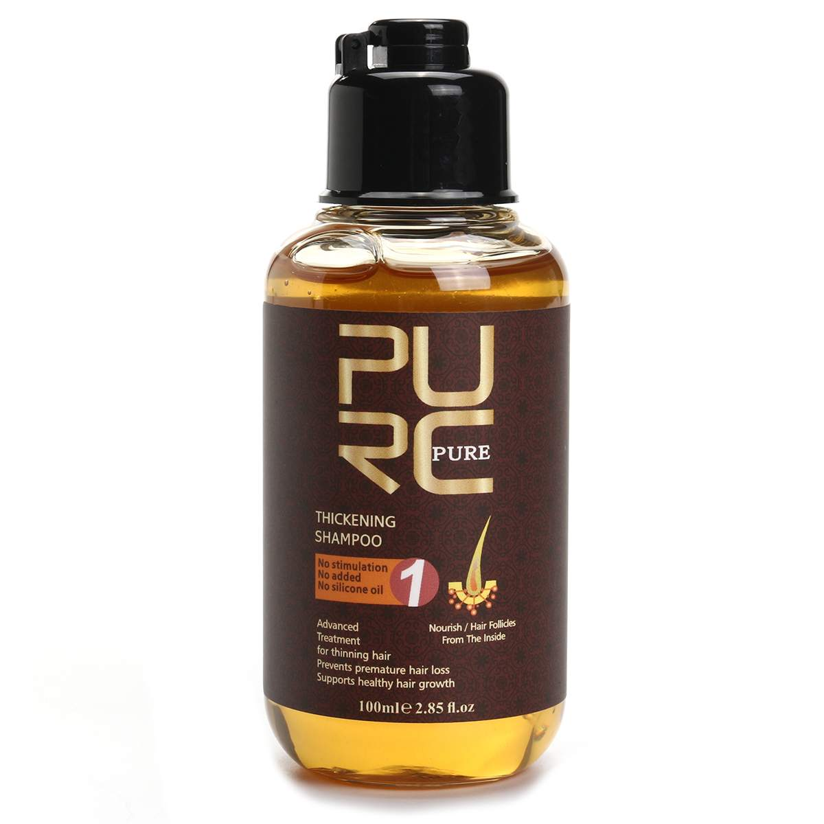 2-in-1 PURC Ginger Anti Hair Loss Shampoo and Conditioner Hair Care Thickening Shampoo Help Hair Growth Strengthener Thickener image