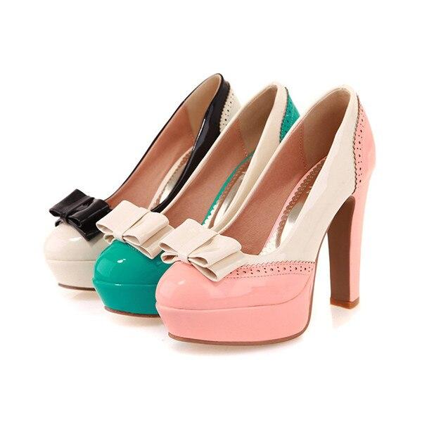 Lolita lace bow zapatos de tacón alto zapatos dulces de mujer en una variedad de colores disponibles envío gratis a