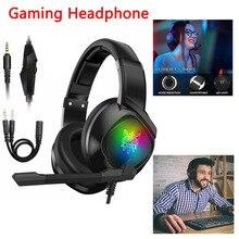 Fones de ouvido profissionais para jogos 3.5mm, headset para ps4, ns, pc, xbox one, com microfone e redução de ruídos, estéreo som