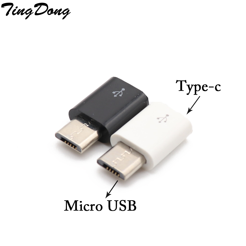 TingDong New 1pc Type C Female To Micro USB Male Adapter Converter Connector  For Phone