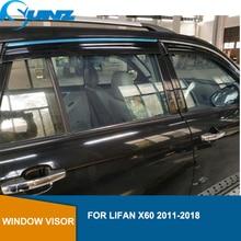Lifan x60 용 창 비 보호 장치 2011 2012 2013 2014 2015 2016 2017 2018 sun shade awnings 보호소 보호대 액세서리 sunz