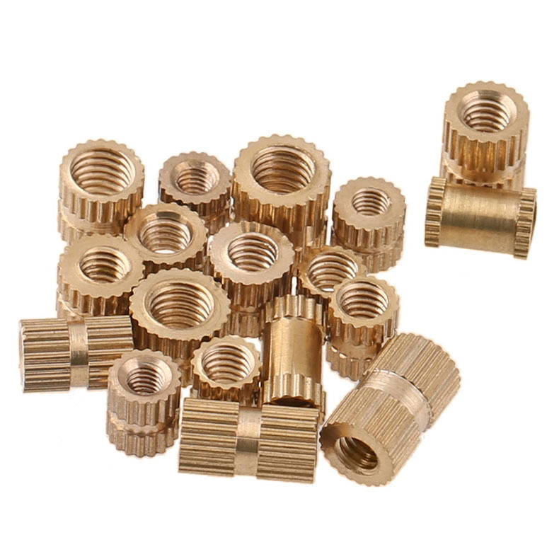 Spot wholesale injection molded copper nut copper knurled nut copper nut m4 m5 m6 m8 20PCS