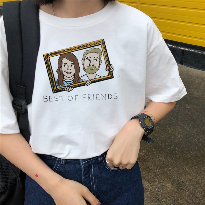 Friends TV Show tshirt T-shirt t shirt T-shirt Top shirt Femme Ulzzang Place Recreational Ancient Print Funny Girl Casual Short image