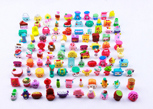 25pcs/lot Cute Shopping Fruit Dolls Action Figures for Family Kids Christmas Gift Child Playing Toys Mixed Seasons