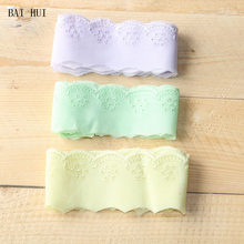 5 cm 2 yard 3 colour pure cotton embroidery fabric lace skirt pendulum cuff cuff curtain bedding DIY pure cotton decorative lace(China)