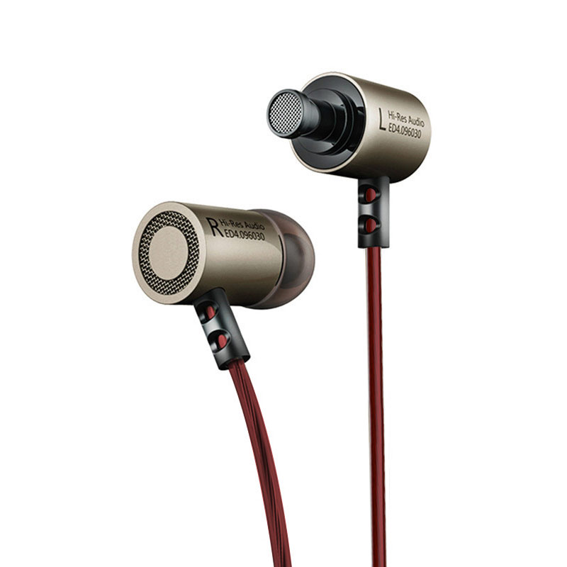cheapest KZ ED4 Headphones Bass Ear HIFI Headset DJ Earphone Metal Stereo Earbuds with Microphone for Mobile Phone MP3 MP4 in ear monitor