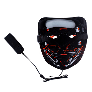Image 2 - Halloween LED Mask Purge Masks Election Party Mask Light Up Masks Glow In Dark Neon Mask