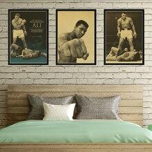 Vintage Art Deco boxeo Mohamed Ali casa decoración pintura poster para guardería cuadro para habitación de niños pared arte lienzo K490