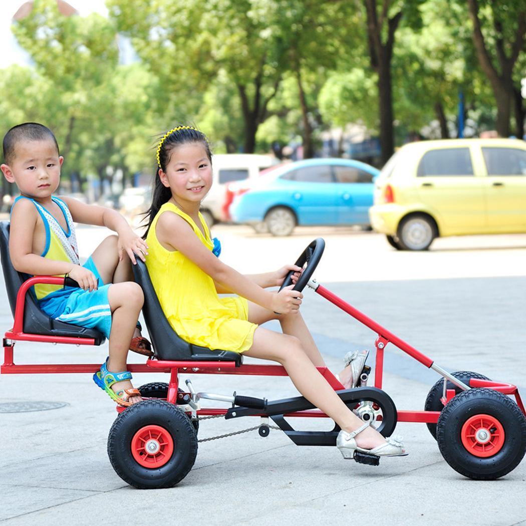 Deux-seate enfant vélo enfants vélo quatre roues à la mode vélo freins aller kart