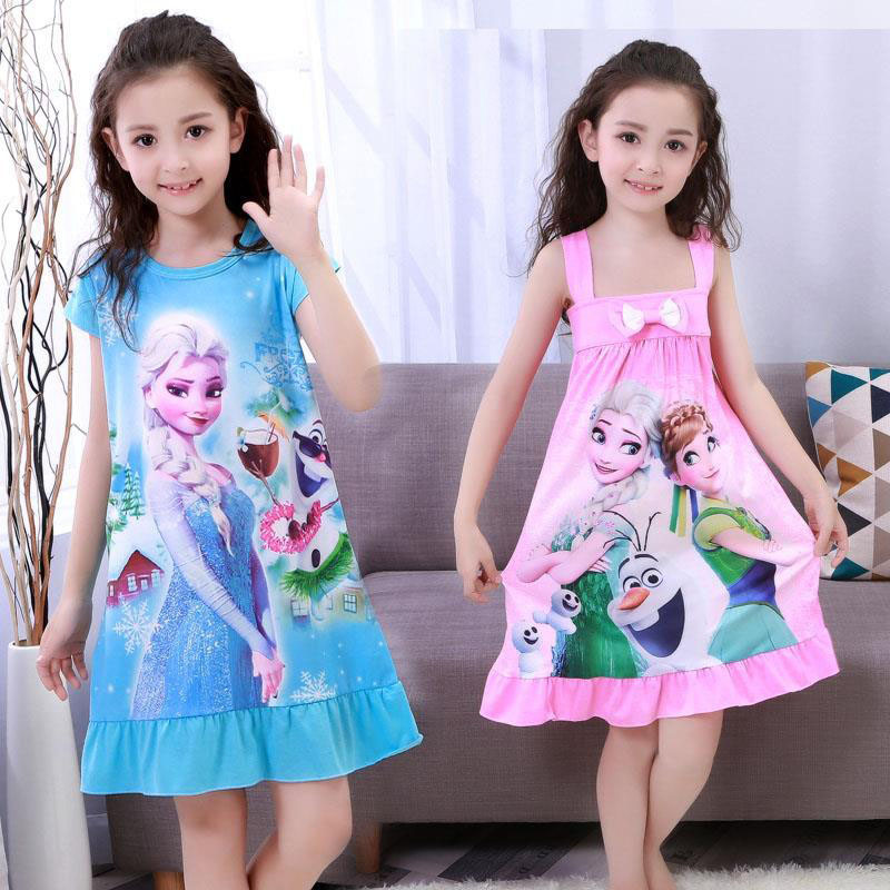 Girls Dresses Sleeveless Beach Kids Dress Summer Clothing Sundress Girl Clothes Baby Dresses Floral Children Clothing