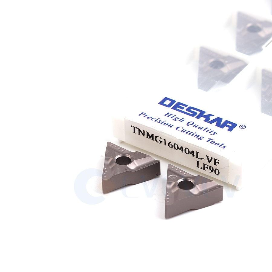 10pcs TNMG160404L-VF TNMG160408L-VF LF90 High quality Turning inserts CNC metal lathe tools Carbide inserts For steel processing
