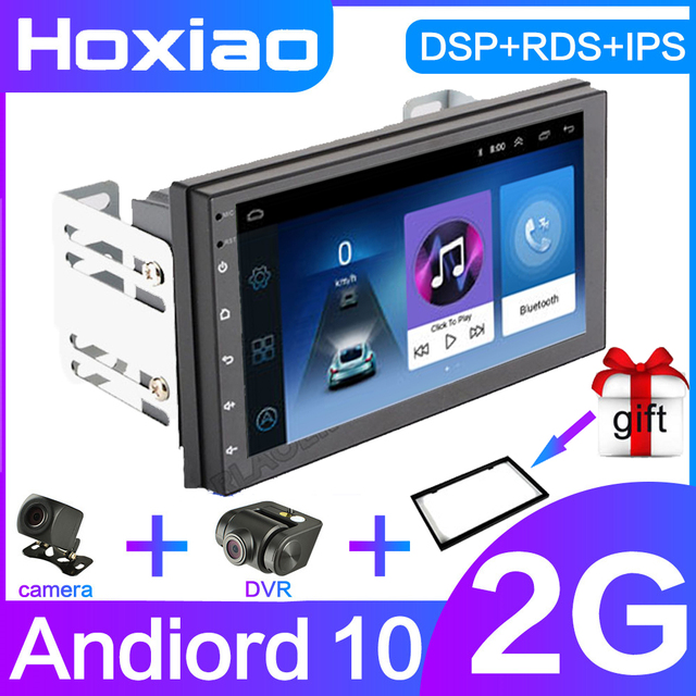 """Radio samochodowe 2 Din Android GPS Radio samochodowe z nawigacją samochodowe Stereo 7 """"Wifi Bluetooth RDS IPS DSP Audio uniwersalny multimedialny odtwarzacz samochodowy"""