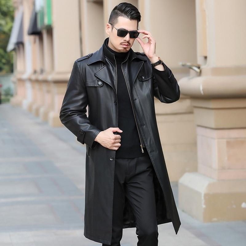 Real Genuine Leather Jacket Sheepskin Coat Female Thick Warm Tops Windbreaker Plus Size Doudoune Femme Hiver ZT5052