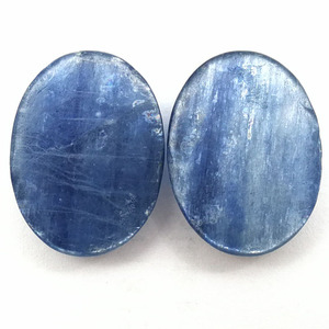 Image 3 - 5pcs/lot Top Quality Natural Kyanite 15*20*5mm Oval Gem Stone Cabochon Kyanite Bead CAB Ring Face For Jewelry Maing