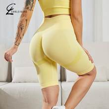 Sports Pure Color Short Leggings All-Match Fitness Gym Legging Mujer Training High Stretchy Thin Leggins Knee-Length