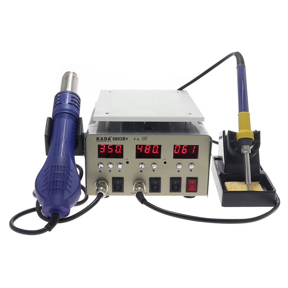 KADA 9803D+ LCD Touch Screen Separator Machine Hot air stationSoldering iron station3 in 1 rework station 948S 918B upgrade