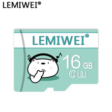 De alta velocidad tarjeta de memoria de 64GB 32GB 16GB Lemiwei TF tarjeta Flash Clase 10 U3 A1 Transflash tarjeta para Smartphone
