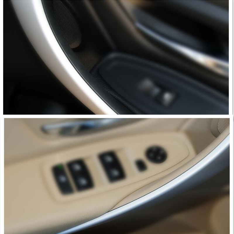 Car Inner Handle Interior Door Panel Pull Trim Cover Gray Beige Black Left Right Inner Handle For BMW 3 Series 320 F30 F35