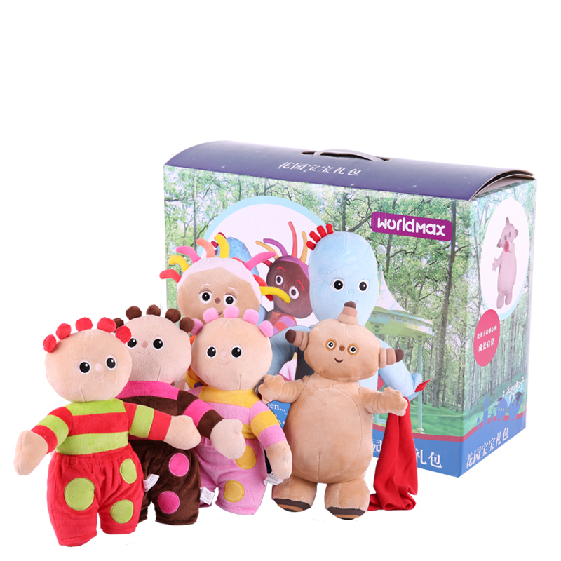 18 height cute plush toy dolls Authorized Products by In the Night Garden 6 items a set / lot Color Box Package