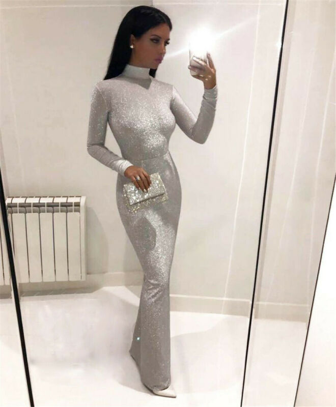 2019 Skinny Women Summer Sexy Slim Dress Off Shoulder Casual Bandage Bodycon Dress Evening Party Long Maxi Dress Plus Size Hot