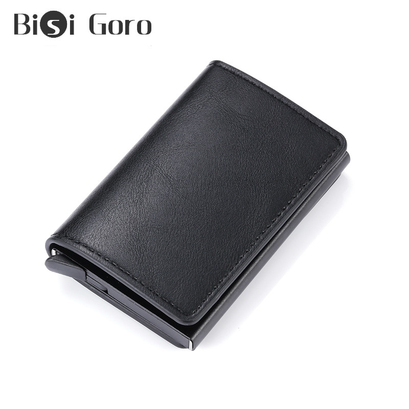 BISI GORO RFID Antitheft Security Credit Card Holder Aluminum Box Pop-Up Clutch Wallet Card Case For Men And Women Drop-shipping