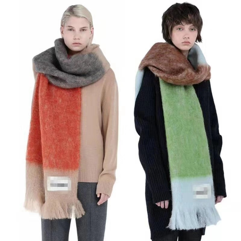 Winter 2019 European And American Style Splicing Cashmere Like Color Red Lady Scarf,Soft Wool Should Keep Warm Women's Shawl Scarf by Ali Express.Com
