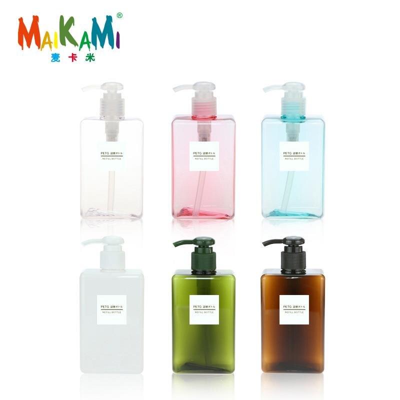MAIKAMI 150ml 280ml Lotion Bottle Square Petg Press Plastic Bottle Shampoo Face Wash Bottle