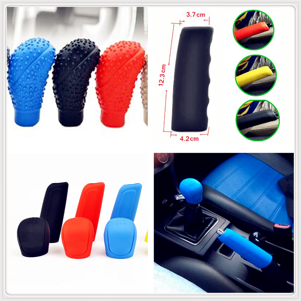 without XW-SSGPJ Color Name : A Black Car Rubber Gear Shift Knob Handbrake Cover Hand Brake Stall Case For Toyota Yaris Tundra Tacoma RAV4 Corolla Aygo Avalon Auris