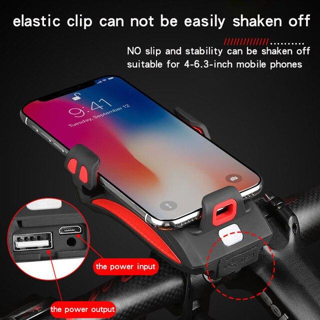 BikeTool - 4 in 1 Bicycle Phone Holder (Phone Holder, Power Bank, Headlights, Horn) 2