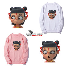 2019NEW Popular Anime Movies Ne Zha Fashion Trend Round Neck Sweatshirt Cartoon  Pullover Male and Female Lovers Cute coat