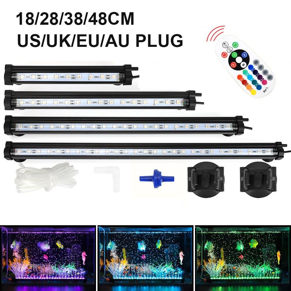 "18/28/38/48cm/7.09"" 18.9""LED Aquarium Light LED Aquarium Bubble Light Underwater Light  Air Pump LED Fish Tank Light D30 Lightings    - AliExpress"