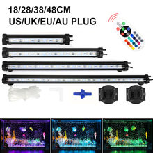 18/28/38/48cm/7.09-18.9LED Aquarium Light LED Bubble Underwater  Air Pump Fish Tank D30