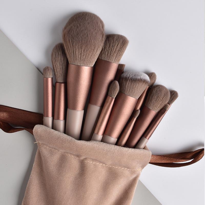 13pcs Professional Makeup Brush Set Soft Fur Beauty Highlighter Powder Foundation Concealer Multifunctional Cosmetic Tool