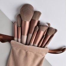 Ensemble de pinceaux de maquillage professionnels, 13 pièces, en fourrure douce, pour poudre, fond de teint, correcteur, outil cosmétique multifonctionnel