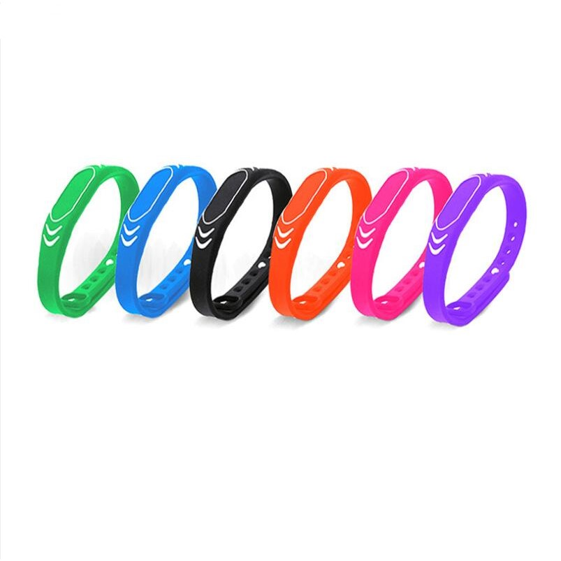 125khz Silicone Bracelets Wristband TK4100 Rfid Wristband Access Control Card Wrist Band Bracelet Tag Color Adjustable Length