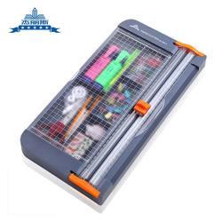 Boîte de rangement multifonction coupe-papier A4 coupe-papier couteau à glissière couteau à pousser coupe-papier gris porte-crayon