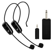 U12F Uhf One For Two Wireless Headset Microphone Amplifier Mixer Suitable Teaching Guides Meeting Lectures