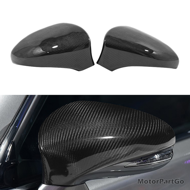 Real Crabon Fiber Mirror Cover 1 pair for Lexus IS/GS/ES/RC/RCF/GSF/CT/LS IS200t IS250 IS350  2013-2017 T255M 1