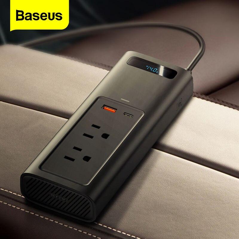 Baseus автомобильное Мощность инвертор DC12V к переменному току 110V Портативный Авто инверсор цифровой адаптер питания для быстрой зарядки Мощность адаптер для автомобиля Зарядное устройство преобразователь Инверторы для авто      АлиЭкспресс