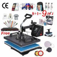 Термопресс для сублимационной печати, 2D принтер для термопечати, 30*38 см, 8 в 1