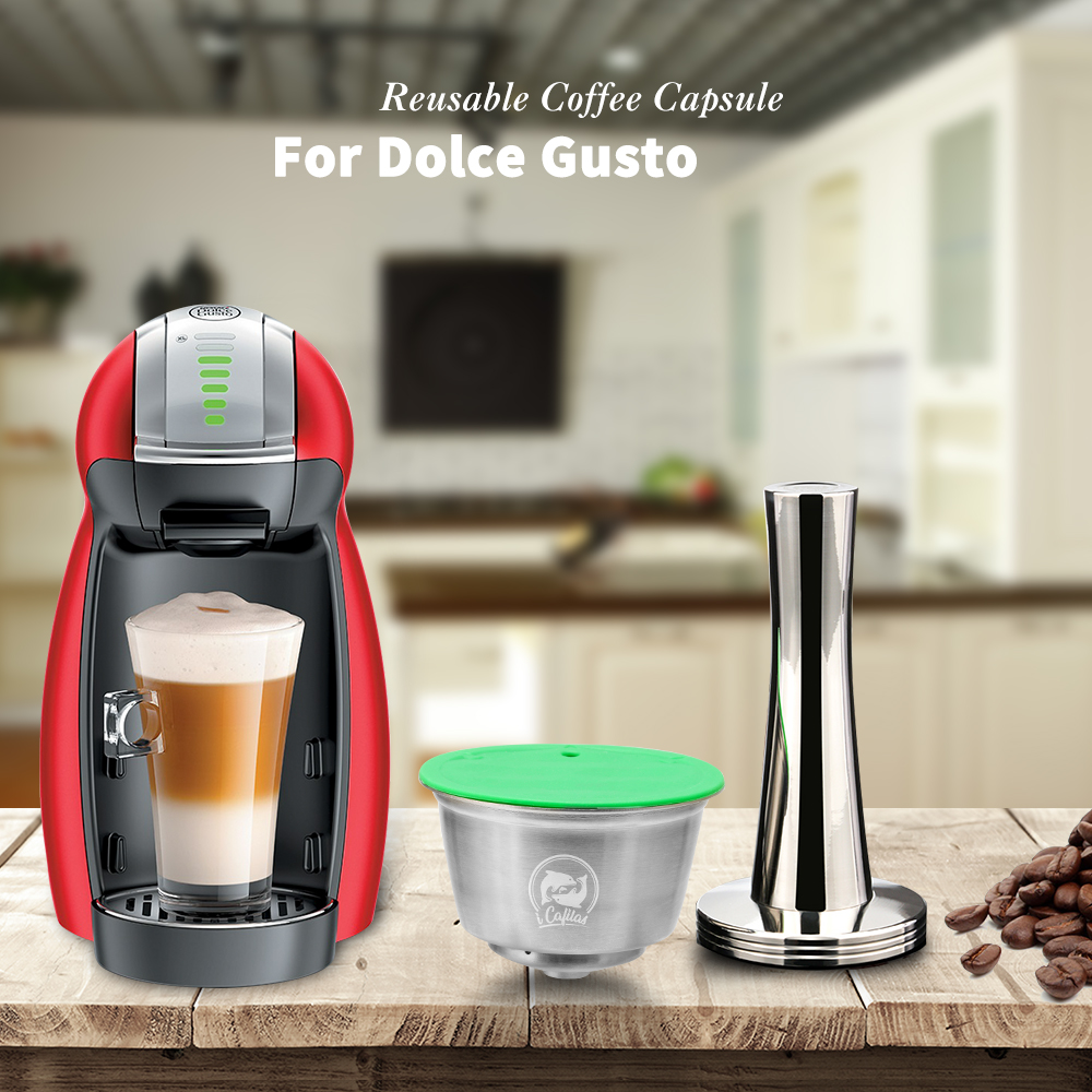 Stainless Steel Refillable Capsule Cup Comaptible For Dolce Gusto Coffee Milk Powder Reusable Filter Eco-Friendly Food Grade