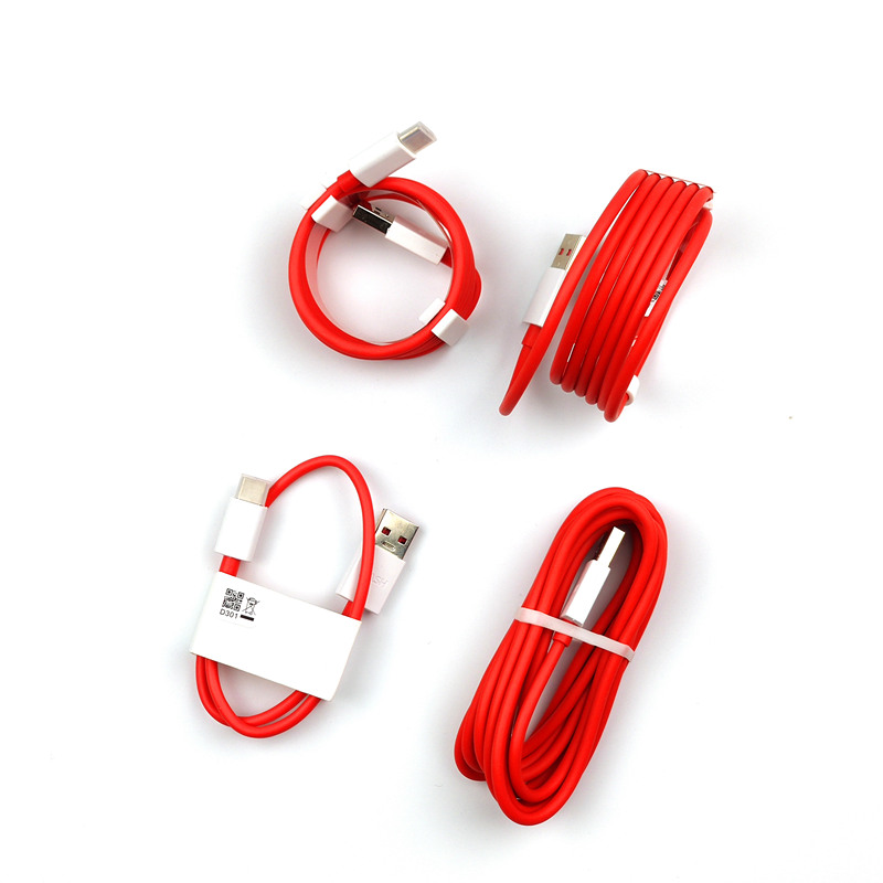 Image 2 - Original 35CM/100cm/150cm Red 4A Usb 3.1 Type C Oneplus 6 Dash Charger Cable For One Plus 7 pro 6T 5t 5 3t 3 Mobile Phone-in Mobile Phone Cables from Cellphones & Telecommunications on
