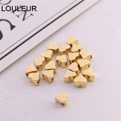 200Pcs Hole Love Heart Shape Spacer Beads CCB Beads End Capsfor DIY Craft & Jewelry Making Findings Charm Beads