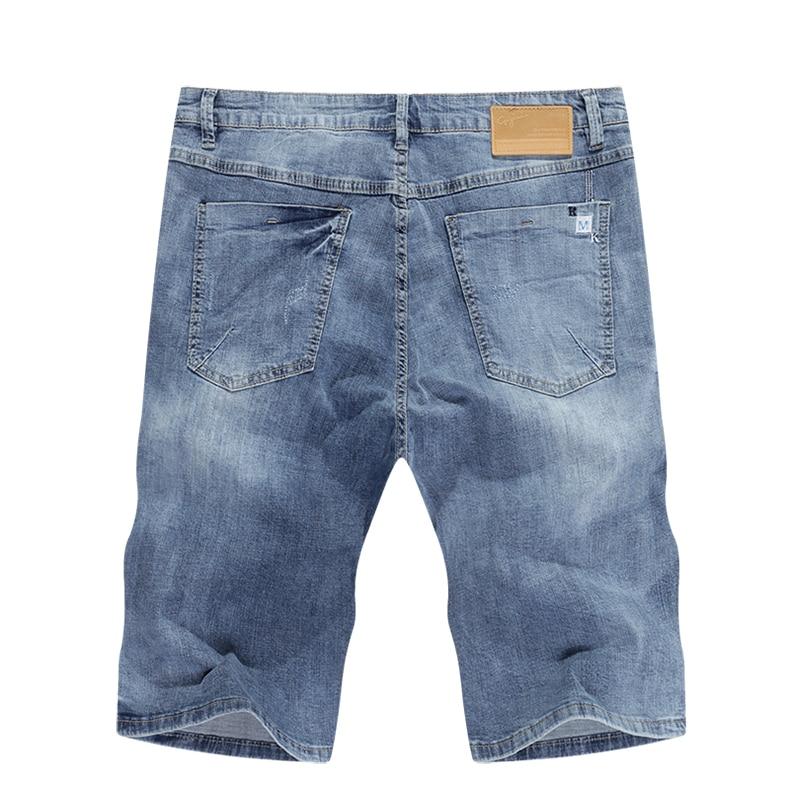 KSTUN Mens Light Blue Jeans Shorts Slim Fit Jeans Men Stretch Summer Denim Short Pants Fashion Leisure Male Jeans Quality Brand 12