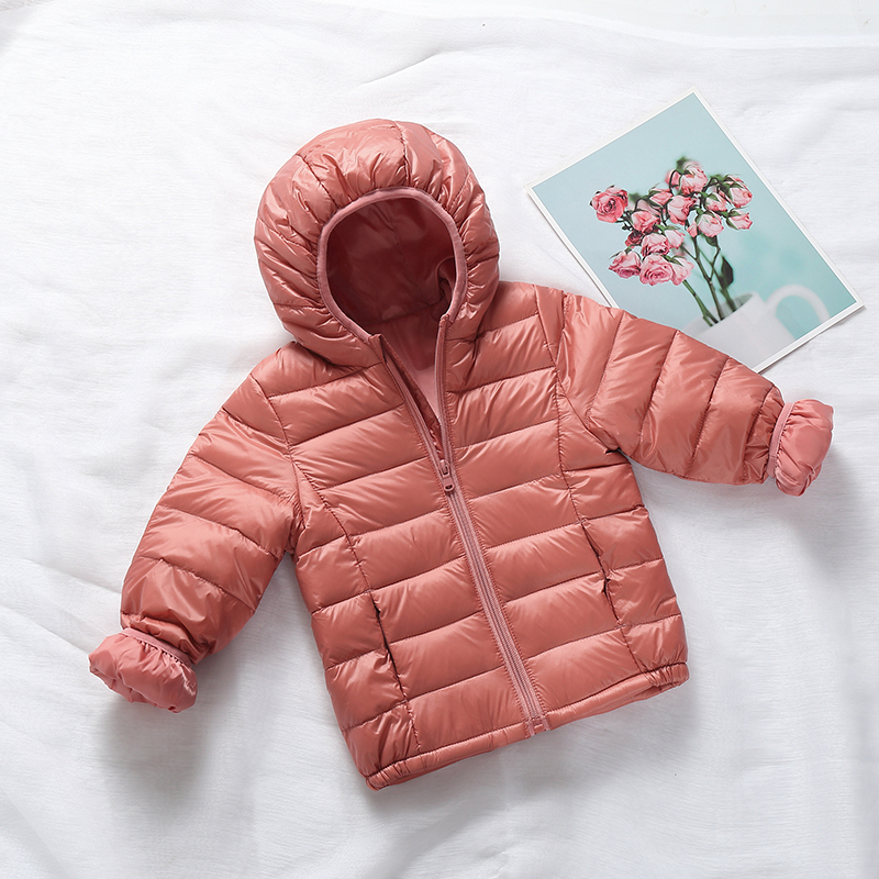 2021 Children winter jacket Ultra light down Baby Girls Jackets Kids Hooded Outerwear Coat boys snowsuit Children Clothing 2-8 y 6