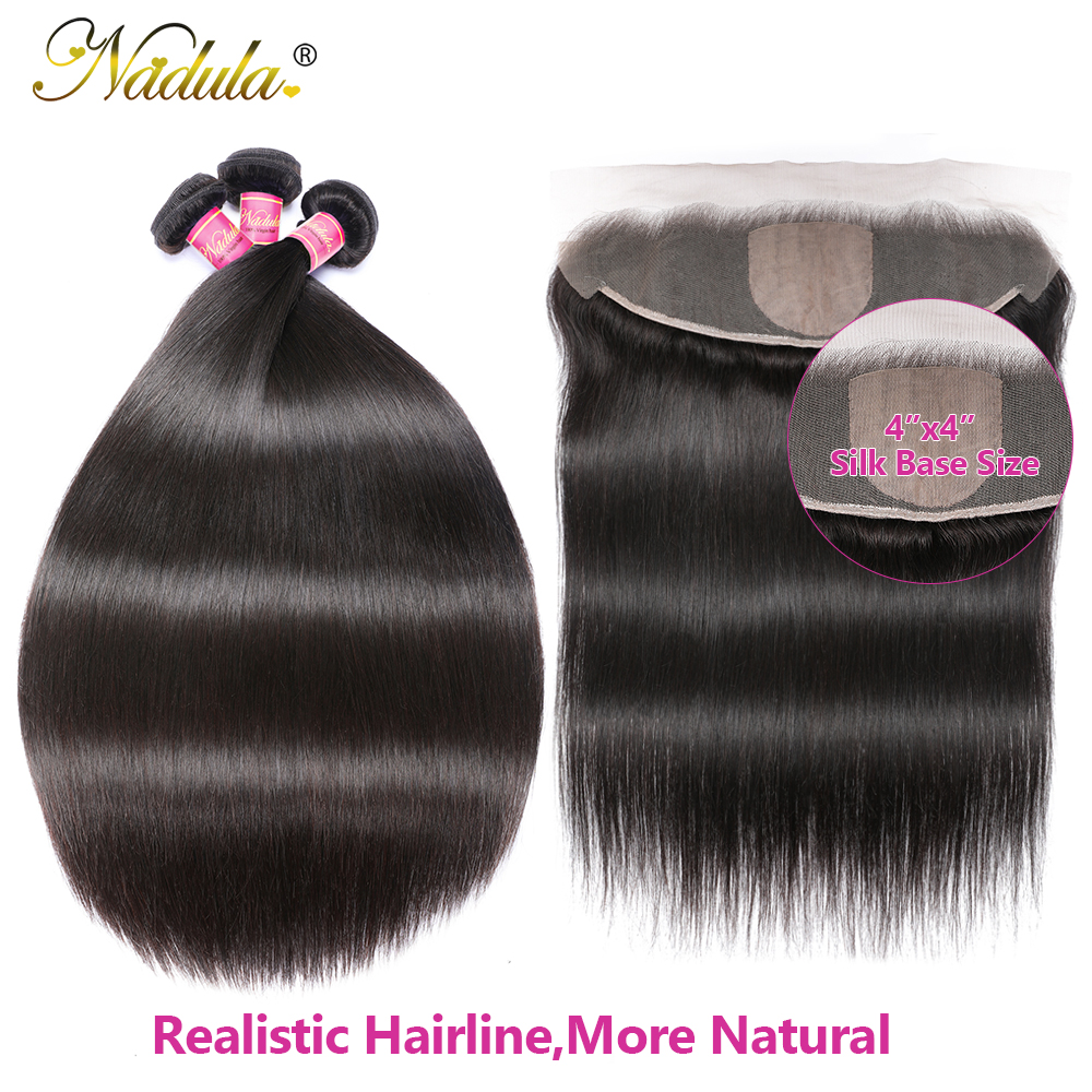 13x4 Straight  Lace Frontal 28 30 inch Bundles With Frontal  Straight Hair Bundles With Closure Nadula Hair 2