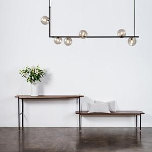 Image 2 - מודרני זכוכית כדור נברשת נורדי אוכל חדר ארוך שולחן תליית אור Creative דקור מנורה ההשעיה עבור בר/חנות
