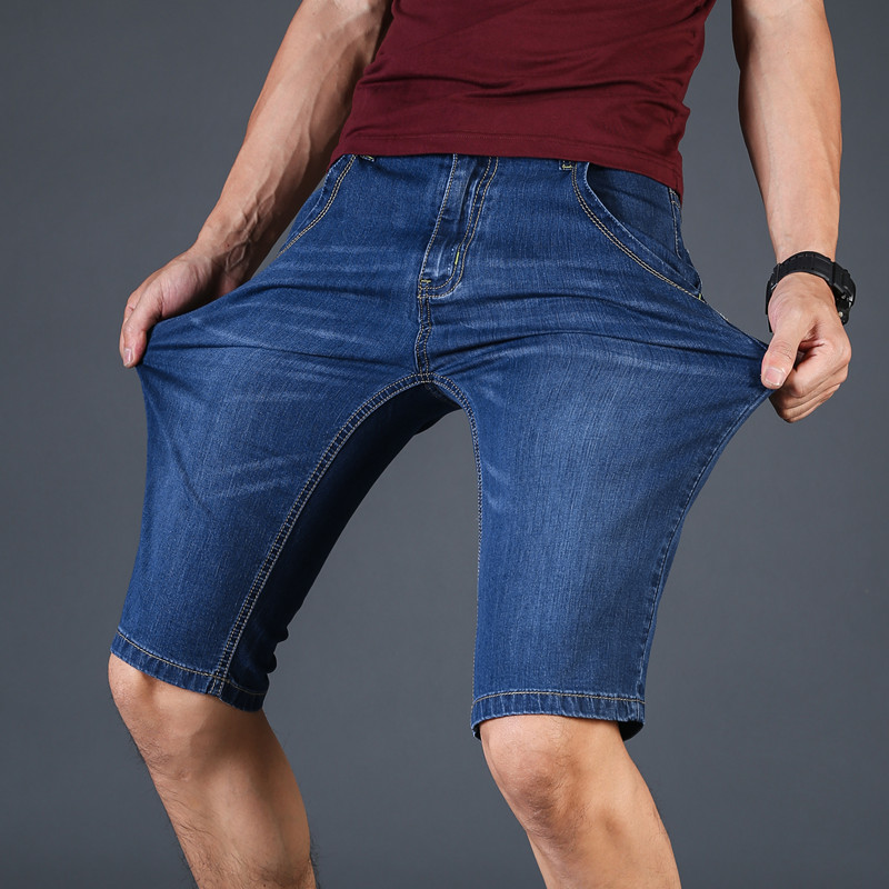 2019 New Summer Men Slim Fit Fashion Jeans Short Male  Cotton Denim Shots  Clothes High Quality Plus Size 28-35-40-42-44-46