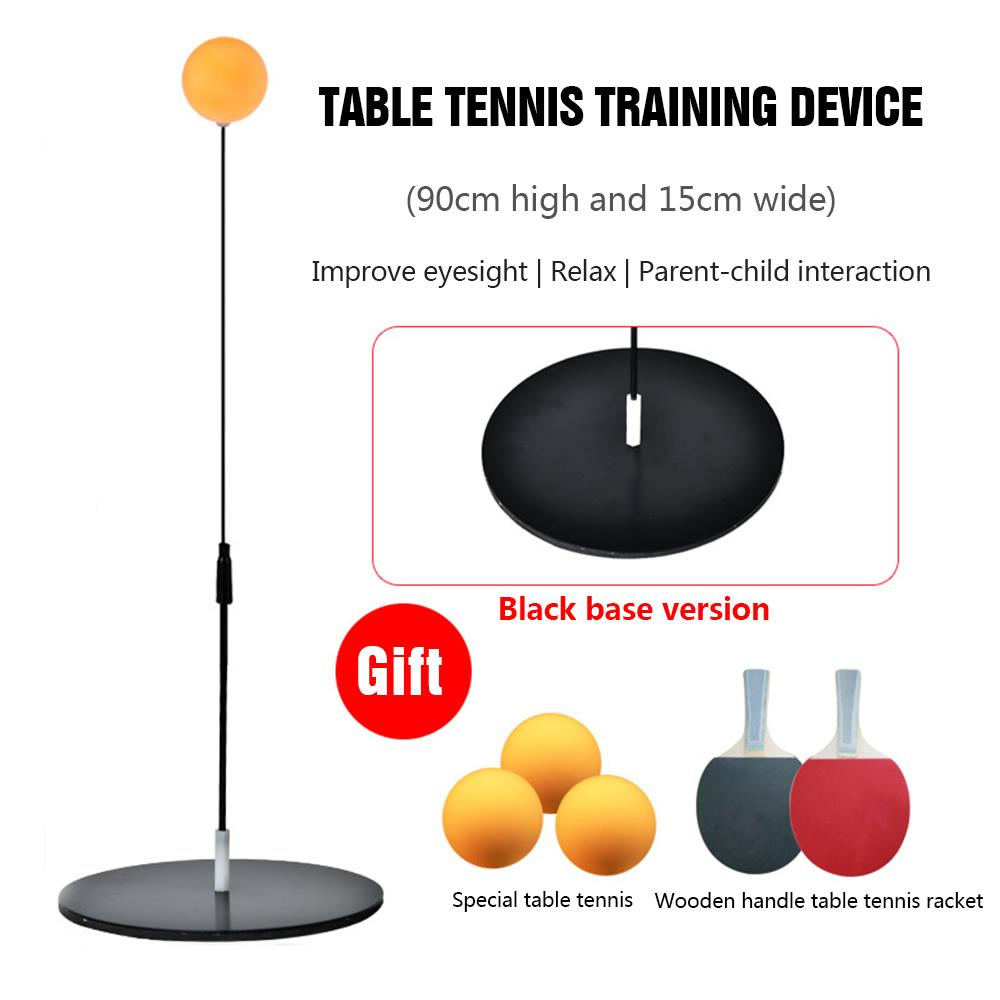 Pingpong Trainer Wood Colour Athletics Game Movement Racquet Table Tennis Ball Table Tennis Trainer Sports
